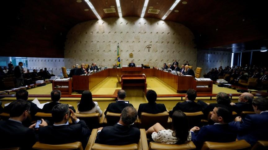 Vista do plenário do STF durante sessão