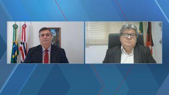 Temas como o uso da cloroquina e a reabertura do comércioforam discutidos pelos governadores do Maranhão e da Paraíba