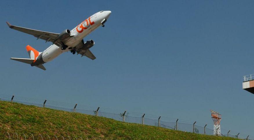 Avião da companhia Gol decola em São Paulo: empresa está em situação positiva para retomada