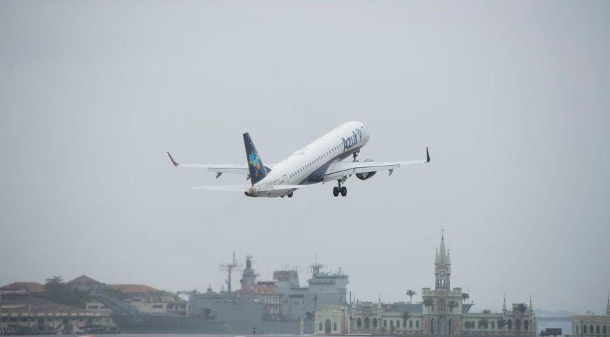 Azul: taxa de ocupação das aeronaves no mês passado foi de 75,5%
