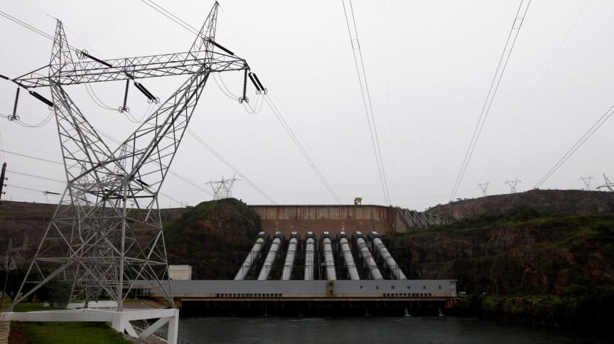 Usina hidrelétrica de Furnas, em São José da Barra (MG)