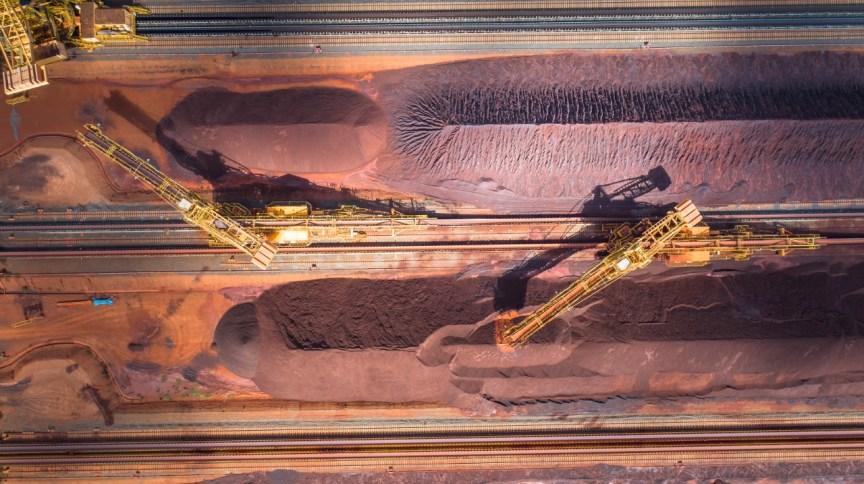 Vista aérea do pátio de estocagem do complexo S11D, maior complexo minerador da Vale, no município de Canaã dos Carajás (PA)