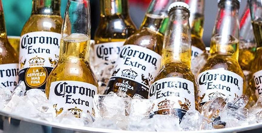 A marca de cerveja Corona