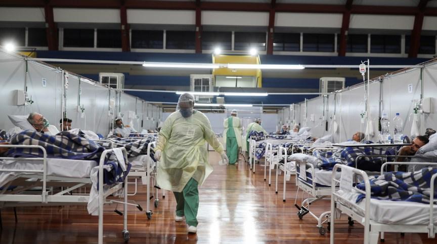 Hospital de campanha para atendimento de pacientes de Covid-19 em Santo André (SP)