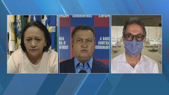 Rui Costa, Fátima Bezerra e Romeu Zema debateram na CNN sobre a reunião com Bolsonaro e o protocolo do uso da cloroquina para Covid-19