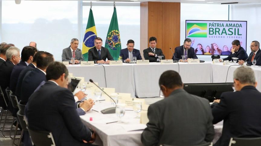Reunião ministerial em 22 de abril, no Palácio do Planalto.
