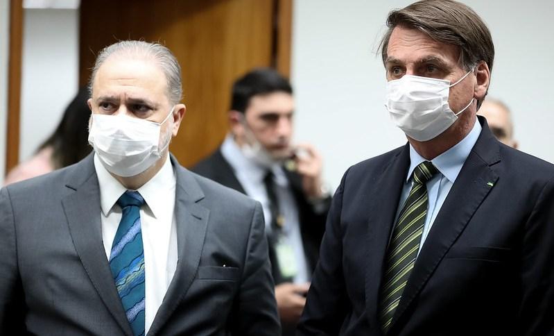 O presidente Jair Bolsonaro e o procurador-geral da República, Augusto Aras, se reúnem