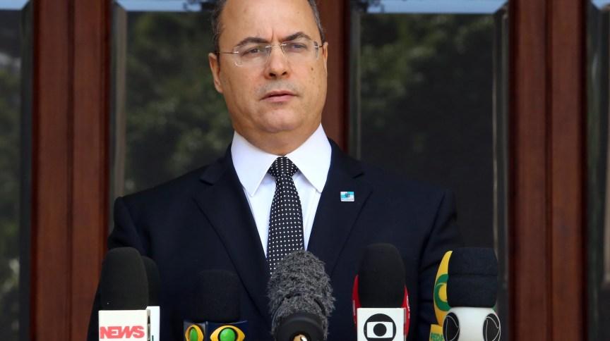 Governador do Rio de Janeiro, Wilson Witzel, durante coletiva de imprensa