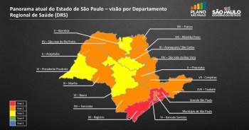 """Paulo Alexandre Barbosa diz que Baixada Santista, enquadrada na """"fase vermelha"""" pelo governo, já está na """"zona laranja"""" desde a semana passada"""
