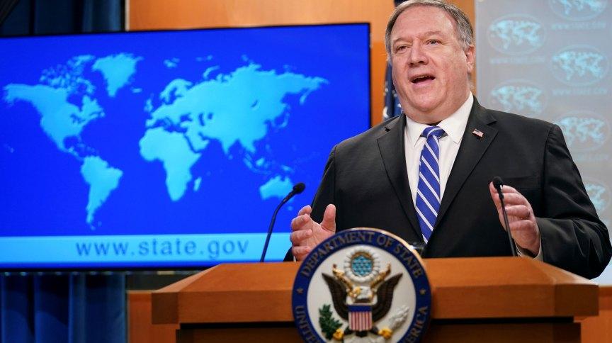 O secretário de Estado dos Estados Unidos, Mike Pompeo