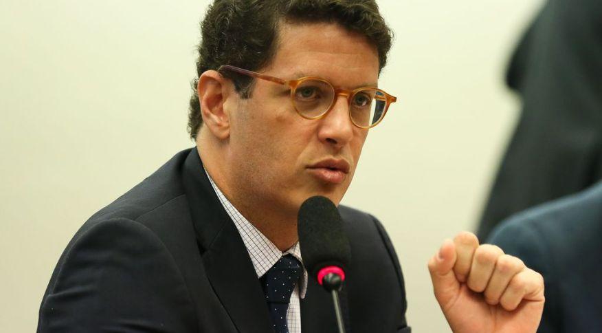 O ministro do Meio Ambiente, Ricardo Salles, durante audiência pública