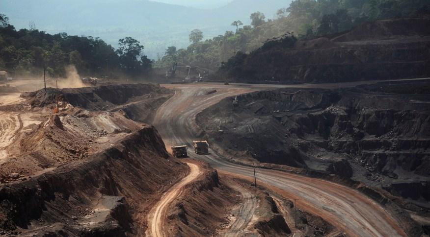 <strong>Área de mina de minério de ferro em Paraupebas</strong>