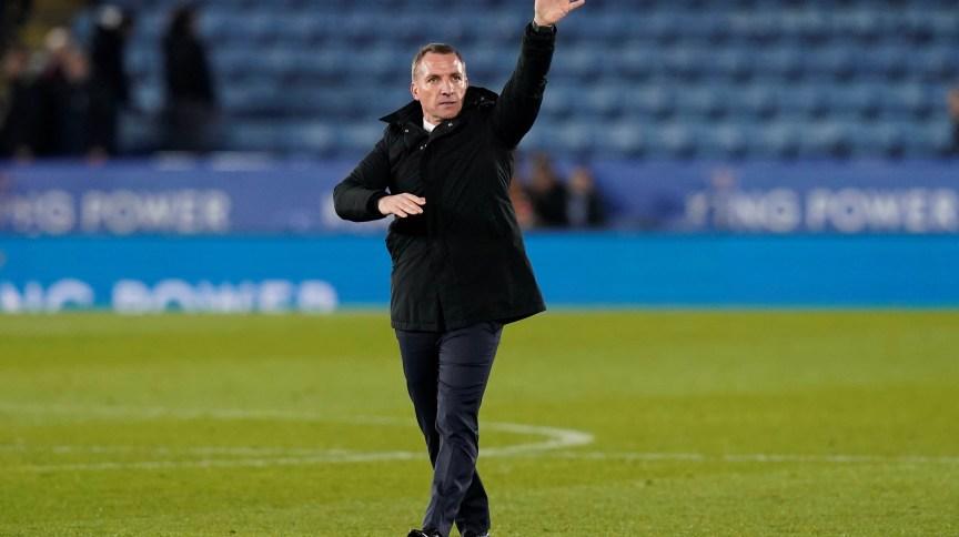 Técnico do Leicester City, Brendan Rodgers, durante partida contra o Birmingham City pela Copa da Inglaterra