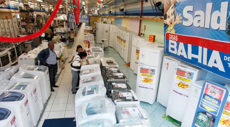 Loja das Casas Bahia, rede que pertence à Via Varejo, em São Paulo (SP)