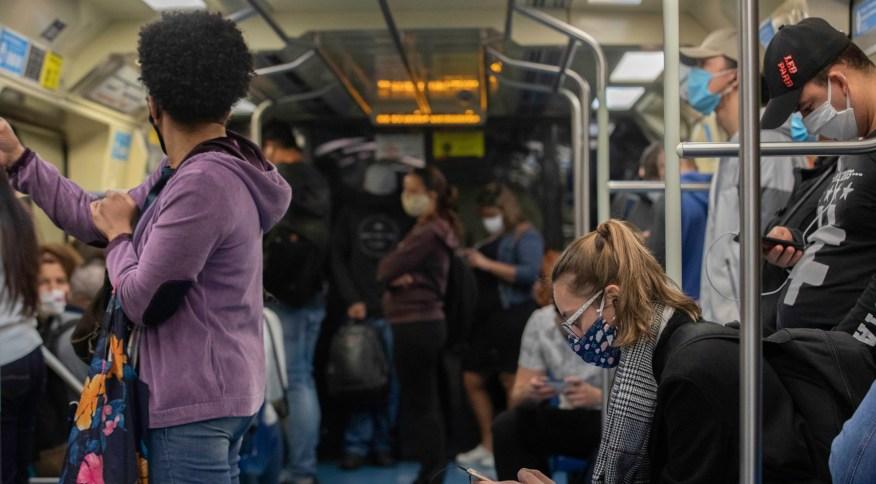 Movimentação no metrô de São Paulo