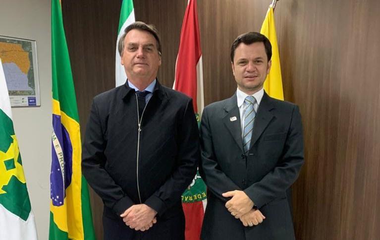 O presidente Jair Bolsonaro reuniu-se com o secretário de Segurança Pública do DF, Anderson Torres