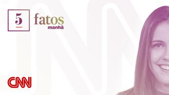 5 Fatos Manhã, apresentado por Elisa Veeck, repercute principais notícias do Brasil e do mundo