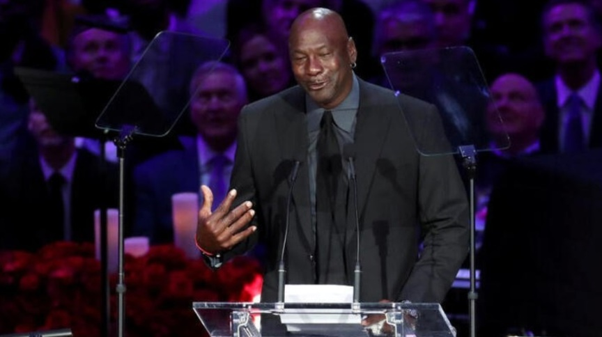 O ex-jogador de basquete Michael Jordan (24.fev.2020)