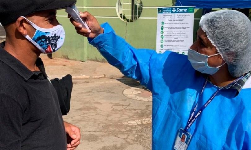 Ação de conscientização e combate ao coronavírus em Francisco Morato (SP)