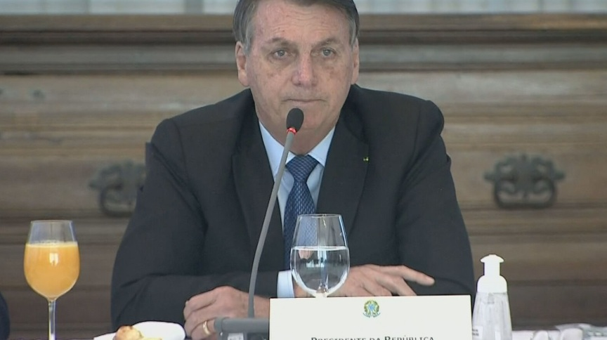 O presidente Jair Bolsonaro durante reunião ministerial