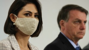 Bolsonaro afirma que Michelle tomou vacina contra a Covid-19