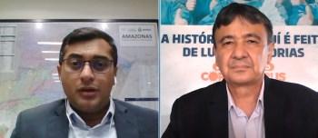 Wellington Dias afirmou que isso aconteceu devido ao esforço do estado junto com os municípios; Wilson Lima disse que o Amazonas enfrentou muitas dificuldades