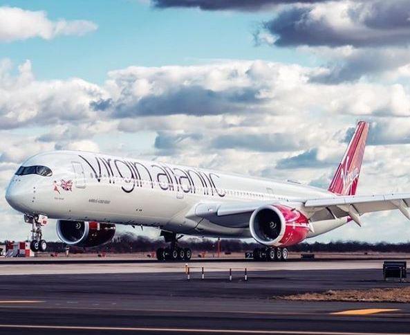 Avião da companhia aérea britânica Virgin Atlantic