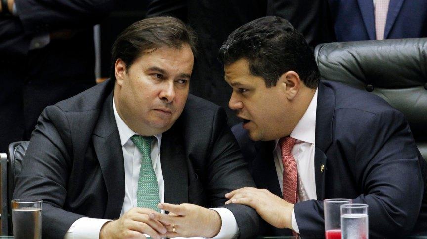 Presidentes da Câmara, Rodrigo Maia, e do Senado, David Alcolumbre
