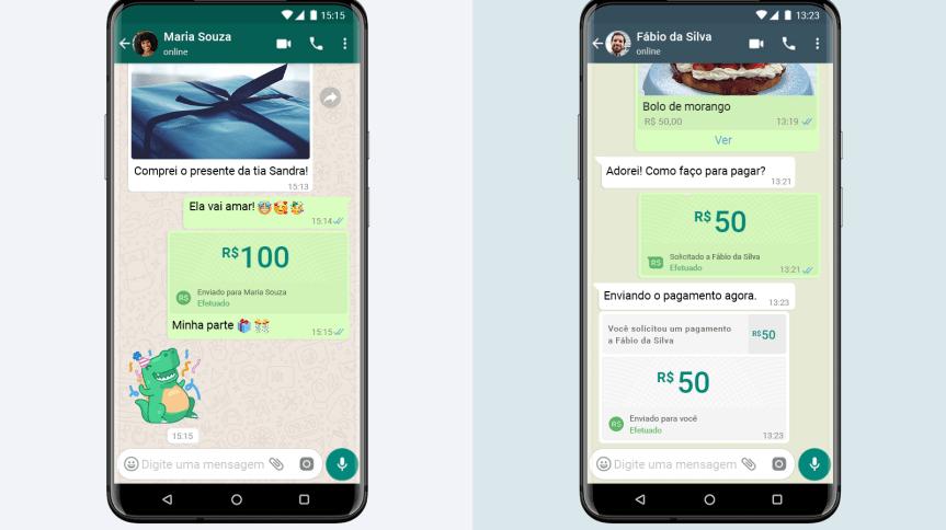 Função de pagamentos do WhatsApp vai aparecer ao lado de opções como 'compartilhar contato'