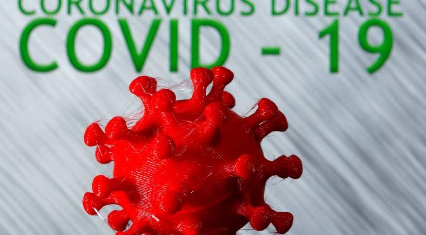 Modelo em 3D do novo coronavírus