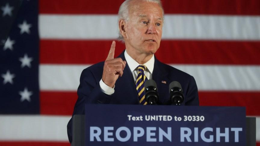 O candidato à Presidência dos Estados Unidos Joe Biden
