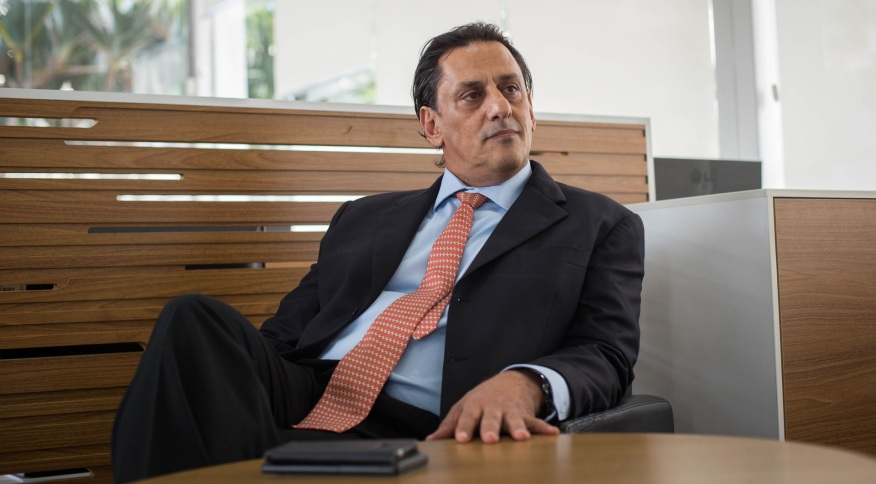 Foto de arquivo de 19 de junho de 2019 de Frederick Wassef, advogado de Flávio Bolsonaro, durante entrevista em São Paulo.