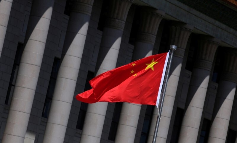 Bandeira da China em Pequim (27/05/2019)