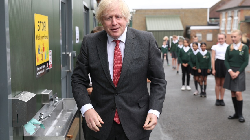 Primeiro-ministro britânico, Boris Johnson (19/6/2020)