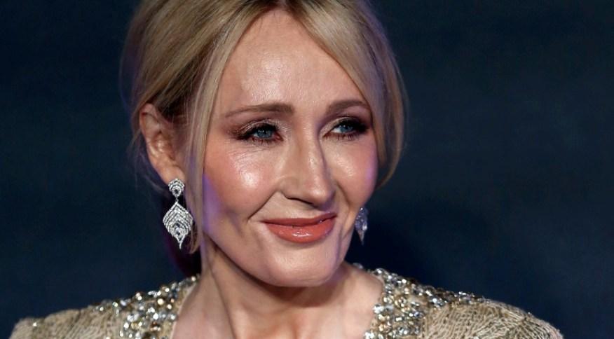 Autora J.K. Rowling em Londres