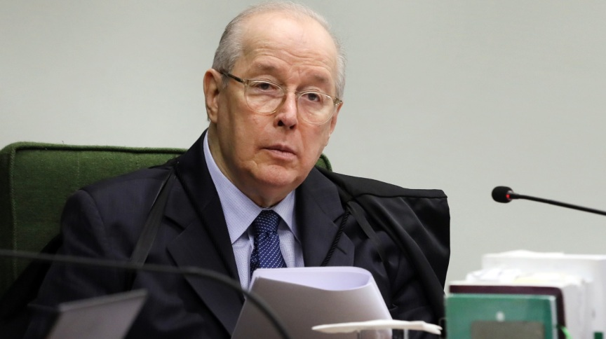 Ministro Celso de Mello em sessão no STF