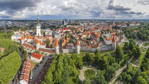 Vista aérea da Estônia