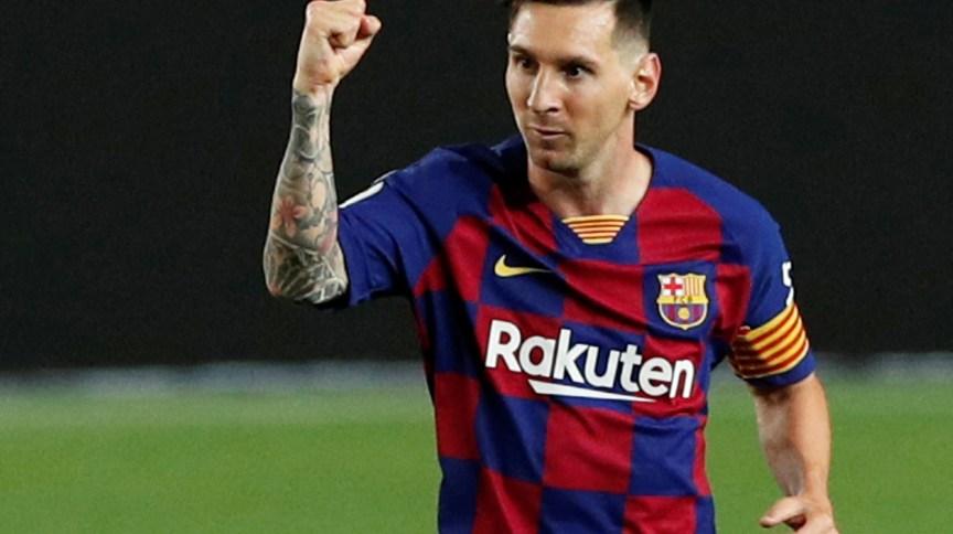 O atacante argentino Lionel Messi, do Barcelona