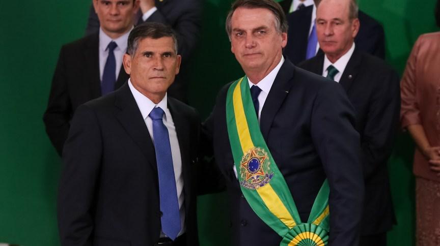 O então ministro da Secretaria de Governo, general Santos Cruz, na posse de Jair Bolsonaro (01.jan.2019)