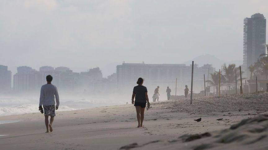 Ciclone do sul do país influencia clima do Rio de Janeiro e vai para o oceano
