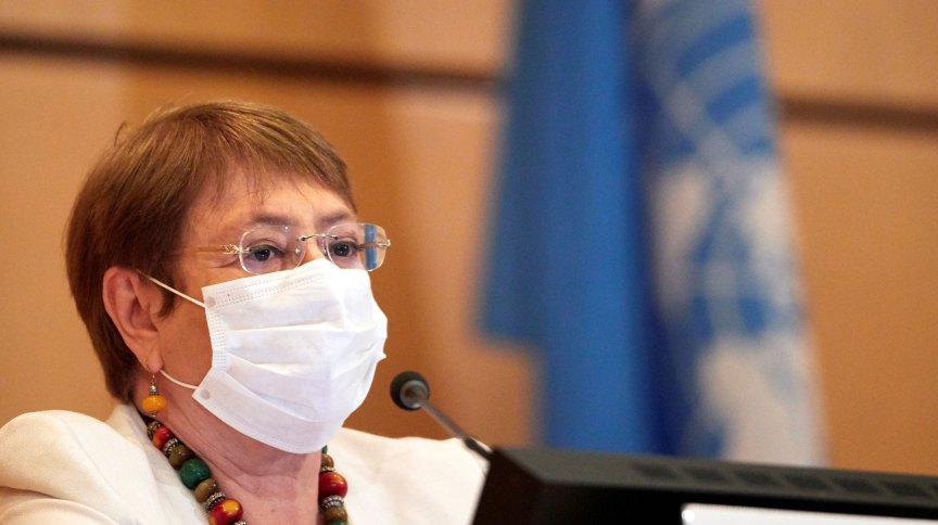 A alta comissária da ONU, Michelle Bachelet