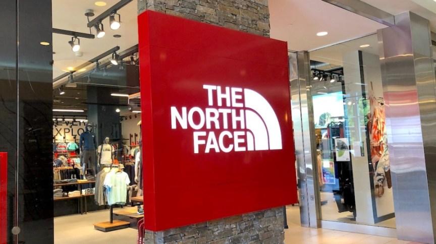Vitrine da loja The North Face