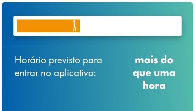 Fila virtual do aplicativo Caixa Tem: usuários relataram demora de mais de quatro horas (5.jul.2020)