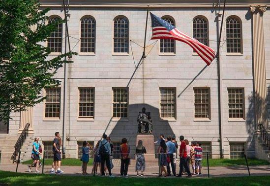 Prédio na Universidade de Harvard
