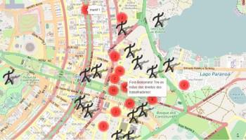 Protesto ocorre por meio de um aplicativo e o confronto entre manifestantes se limitou a xingamentos – e nenhum bonequinho se feriu