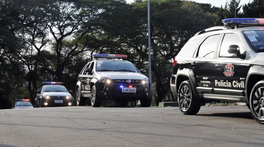 Viaturas da Polícia Civil de São Paulo