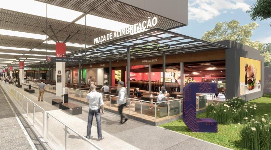 Ilustração de como deve ficar o Terminal Carrão, em São Paulo, após obras de grupo privado: grupo investirá R$ 500 milhões