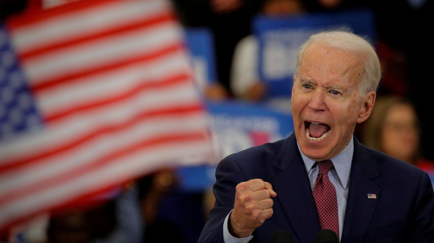 O pré-candidato democrata à presidência dos EUA, Joe Biden