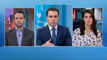Bruno Salles e Gisele Soares participam da edição matinal do quadro O Grande Debate, da CNN