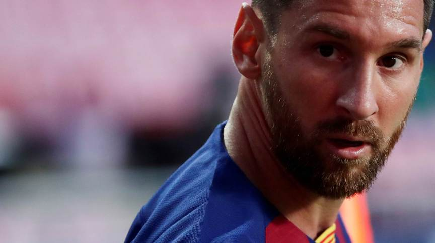 O jogador de futebol Lionel Messi, que está saindo do Barcelona, após 17 anos